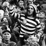 Fan in hoops and tammy on shoulders early 1970s