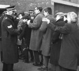Fans Queing showing ticket Liverpool 66