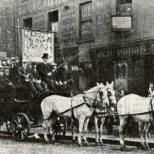 Garngad Brake Club maybe St Mungo outside old Forge Tavern