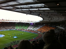 GB Celtic go bragh display at Hampden