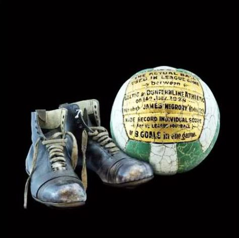 Jimmy McGrory boots and ball 8 goals v Dline