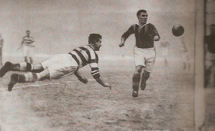 Jimmy McGrory diving header record score