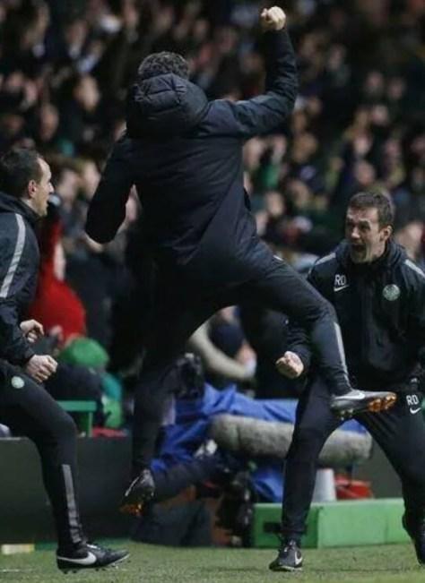 John Collins celebrates