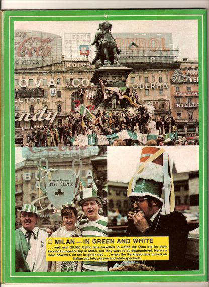 Milan 1970 Celtic fans in square