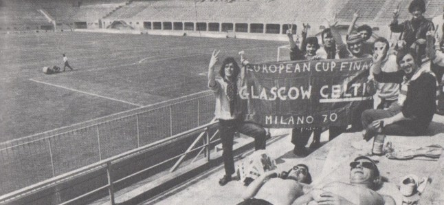 Milan Celts sunbathing in San Siro