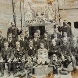 St Mary's BC Banner with Caltonians photo