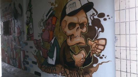 St Pauli Celtic mural in Hamburg 1