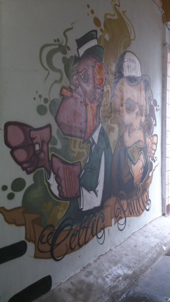 St Pauli Celtic mural in Hamburg 2