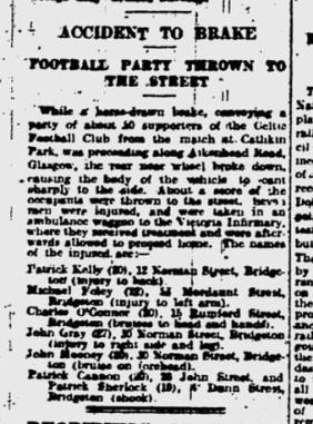 Brake club accident, Glengarry fans Jan 1925
