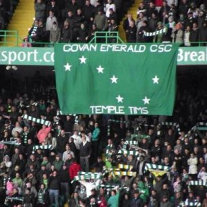 Govan Emerald and Temple Tims banner at CP