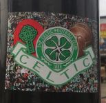 Celtic old ball and crest sticker