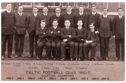 Celtic team 1911  Players who toured