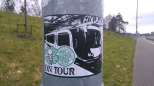 GB on tour large sticker