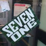 Seven One tartan sticker