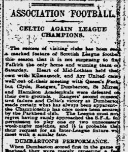 1917  Celtic again League Champions  Newspaper headline
