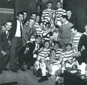 Celtic squad celebrate 1969 SC win