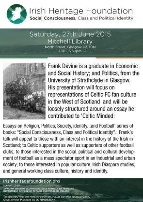 Frank Devine IHF flyer big