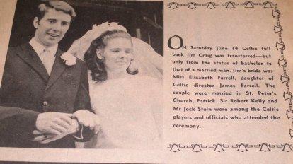Jim Craig wedding day