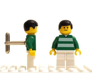Lego Celtic cufflinks
