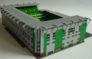 Lego Celtic Park from behind Jock Stein Stand