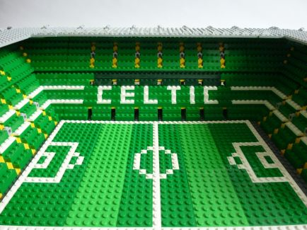 Lego Celtic Park North Stand close up