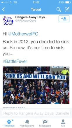 Motherwell  Sink us and we'll sink you