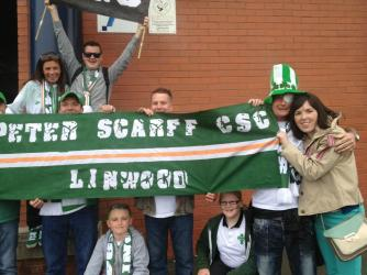 PS CSC Celebrating league title with banner