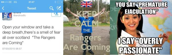 Rangers are Coming prematurely