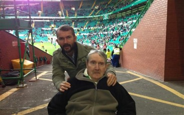 Michael and John Tierney 2013 at Celtic Park