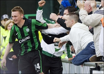 Riordan celebrates at Celtic
