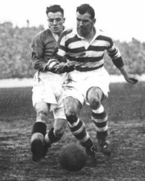 Jimmy McGrory action being tackled