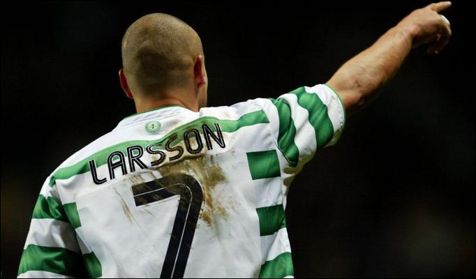 Henrik Larsson Last Game No  Jersey Theshamrockglasgow