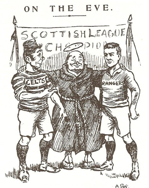 On the Eve  Scottish Referee  Celtic Rangers cartoon  St Mungo