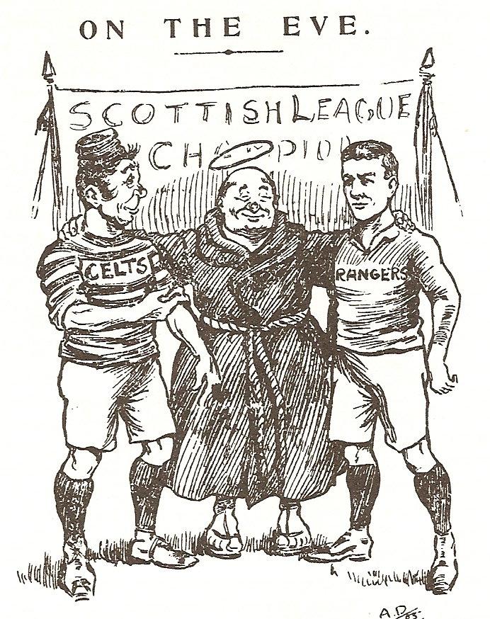On the Eve Scottish Referee Celtic Rangers cartoon St Mungo