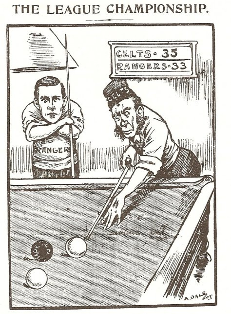 Scottish Referee   Celtic v Rangers  Snooker cartoon  Irish bogman