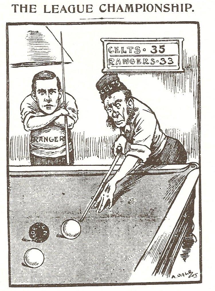 Scottish Referee Celtic v Rangers Snooker cartoon Irish bogman