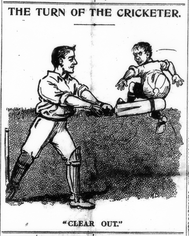 The Turn of the Cricketer cartoon