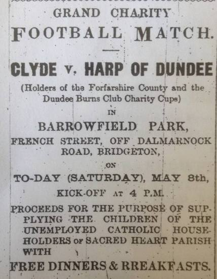 clyde-v-dundee-harp-advert-barrowfield-may-8th