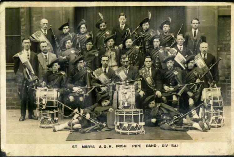 St Mary's AOH pipe band, 1923