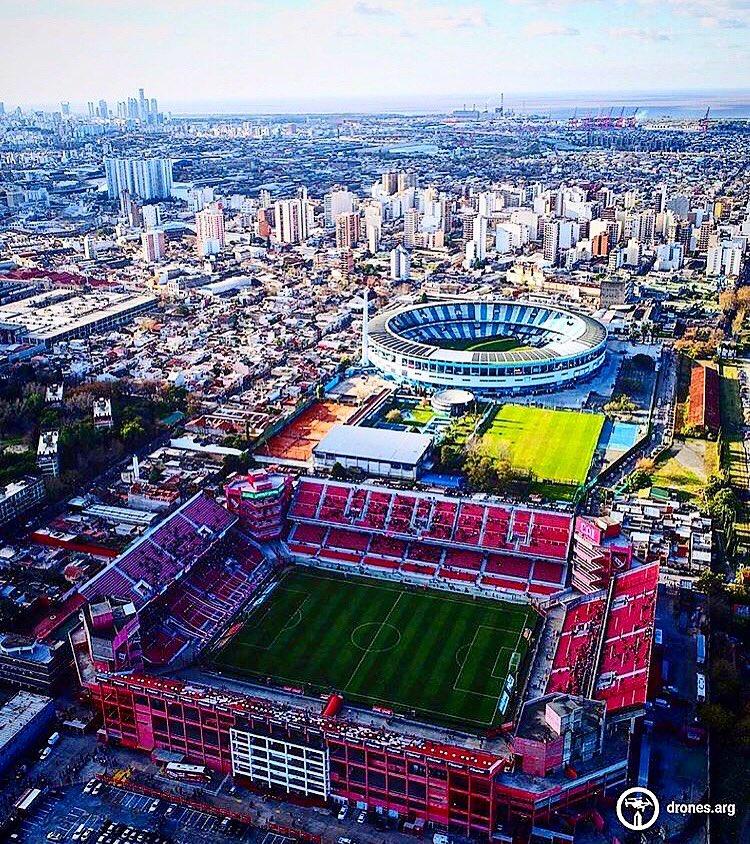 The two stadia 300 metres apart