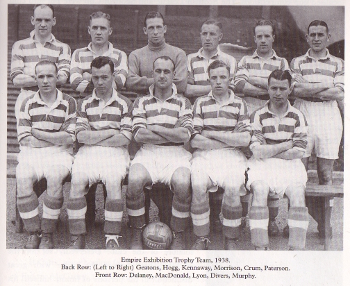 Celtic 1938 Empire Exhibition trophy winners