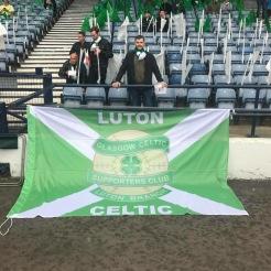 Luton Celtic banner, Hampden