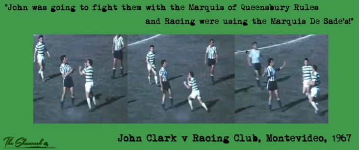John Clark v Racing Club fists Marquis
