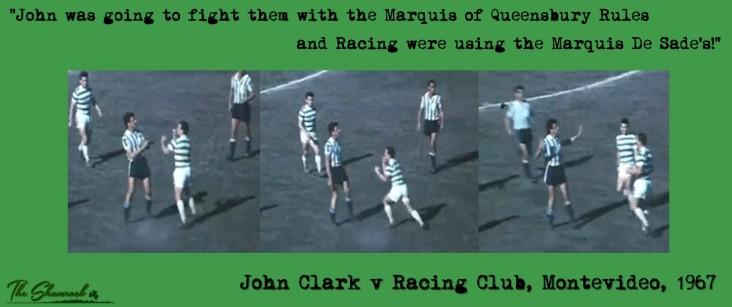 John Clark v Racing Club fists Marquis