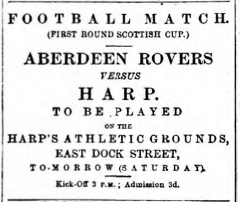 ad harp v aberdeen rovers. courier