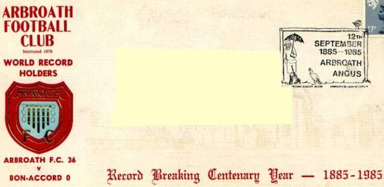 arbroath world record breakers postcard
