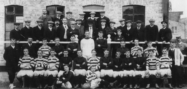 Dundee Hibernian first game v Hibernian 1909.jpg