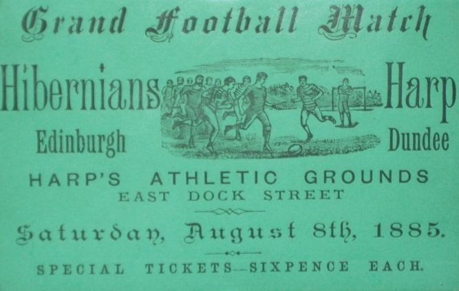hibernians v harp match ticket, hampden museum