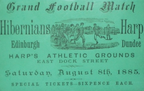 hibernians v harp match ticket, hampden museum