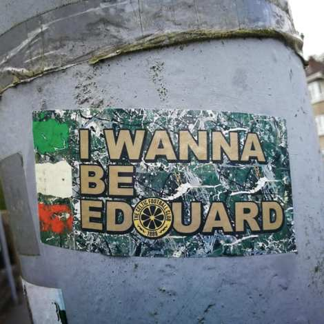I wanna be Edouard sticker